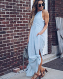 Paper Moon Pocketed Crochet Maxi Dress