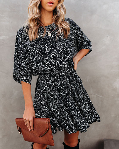 Do Or Don't Printed Rope Tie Dress