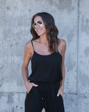 Around Town Pocketed Jumpsuit - Black