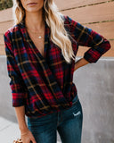 Devonshire Drape Plaid Top