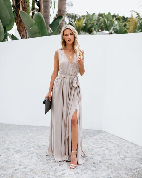 Diana Sleeveless Maxi Dress - Neutral