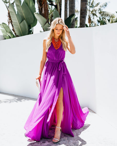 Diana Sleeveless Maxi Dress - Orchid
