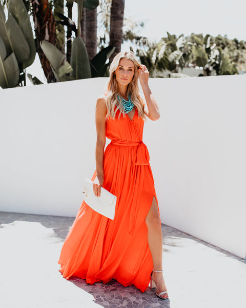 Diana Sleeveless Maxi Dress - Sunrise
