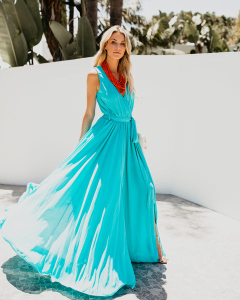 Diana Sleeveless Maxi Dress - Teal