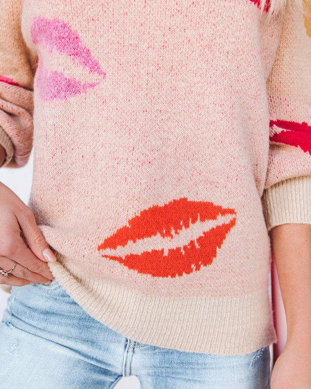 Don't Kiss And Tell V-Neck Sweater