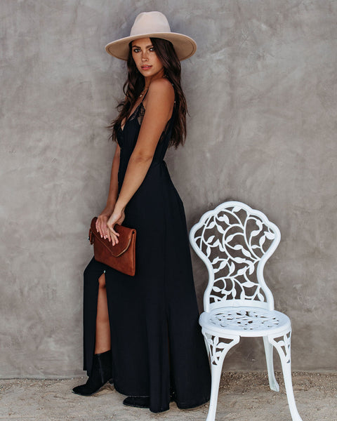 Dream Come True Slip Maxi Dress - Black