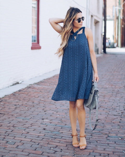 Indigo Mood Embroidered Dress