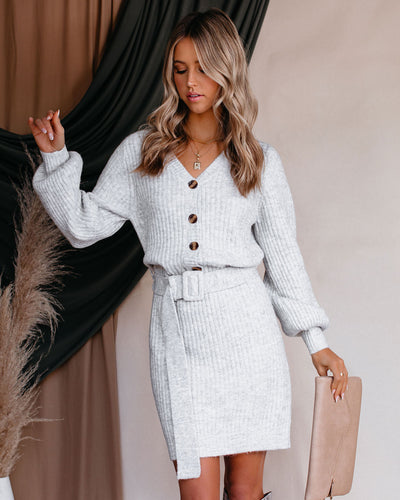 Erin Belted Knit Sweater Dress