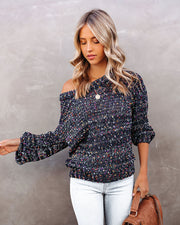 Fireworks Knit Confetti Sweater - Navy
