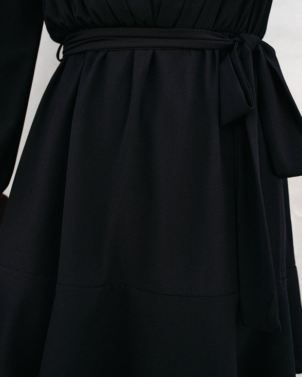 Glad I Found You Ruffle Dress - Black view 4