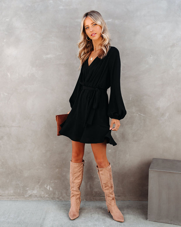 Glad I Found You Ruffle Dress - Black view 7
