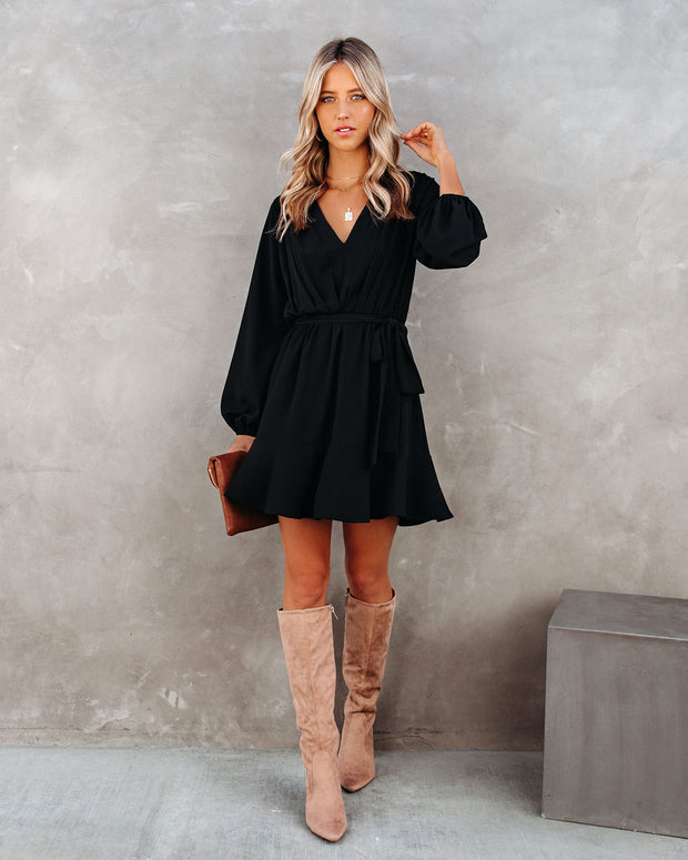 Glad I Found You Ruffle Dress - Black view 5