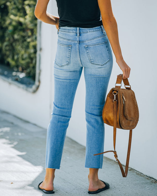 Jeanne High Rise Distressed Slim Straight Denim view 2