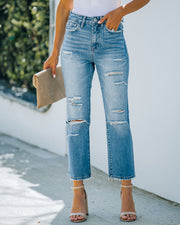 Beverly High Rise Distressed Denim view 8