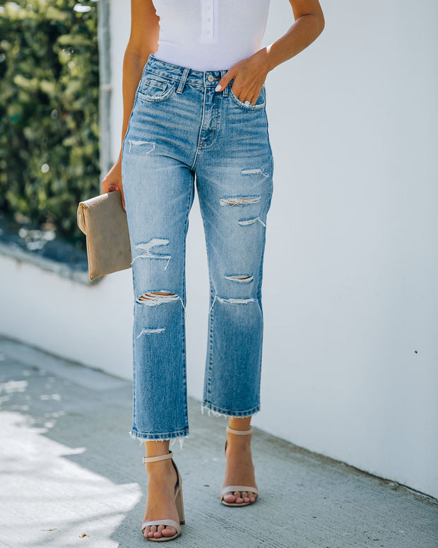 Beverly High Rise Distressed Denim view 10
