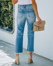 Beverly High Rise Distressed Denim view 2