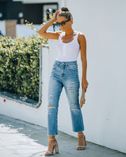 Beverly High Rise Distressed Denim view 9