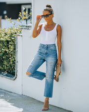 Beverly High Rise Distressed Denim view 7
