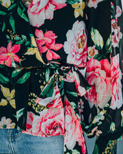 Send My Love Floral Smocked Peplum Blouse - FINAL SALE view 4