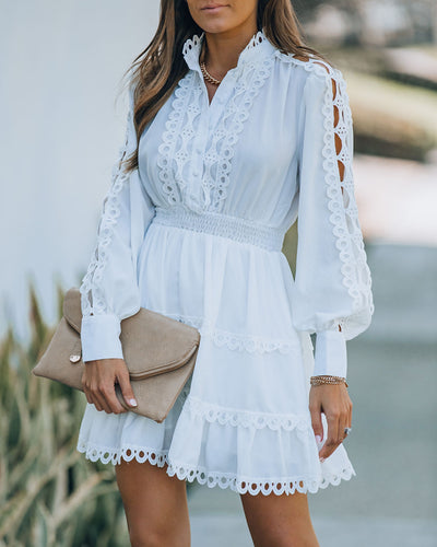 Fairmont Crochet Lace Button Down Dress
