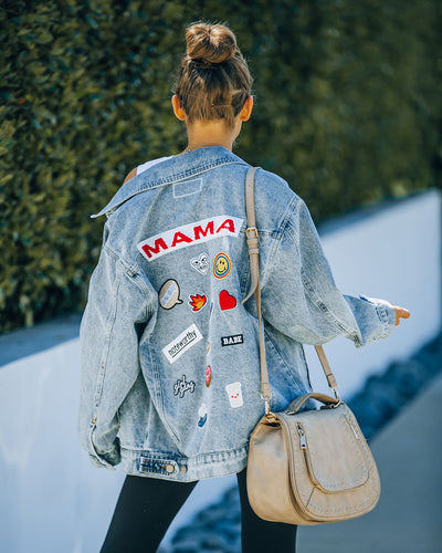 PREORDER - Mama's Pocketed Patch Denim Jacket