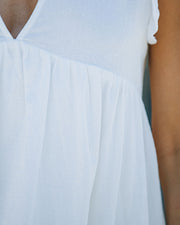 Trendsetter Cotton Pocketed Babydoll Dress - White view 4