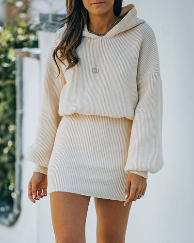 Bodhi Hooded Knit Sweater Dress