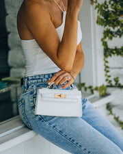 Priana Mini Crossbody Handbag - White view 5