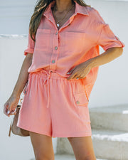 Rayan Cotton Pocketed Shorts - Bright Peach view 7