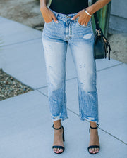 Trevie High Rise Straight Leg Denim view 7