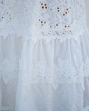 Devoted Cotton Lace Eyelet Midi Dress view 4
