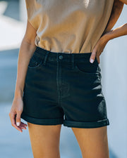 Lindsay High Rise Cuffed Denim Mom Shorts view 11