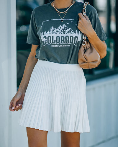 Franco Pleated Knit Tennis Skirt