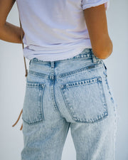 Bass High Rise 90's Acid Wash Distressed Denim view 11