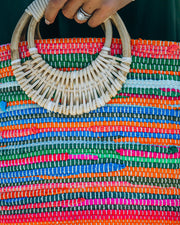 Fun And Bright Jute Handbag view 4