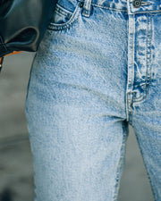 Vintage High Rise Straight Crop Denim view 4