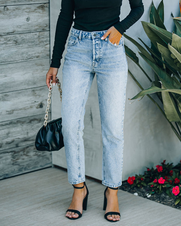 Vintage High Rise Straight Crop Denim view 1