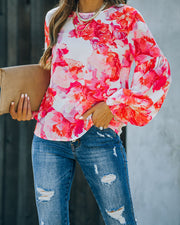 Feel It In The Air Floral Smocked Blouse view 5