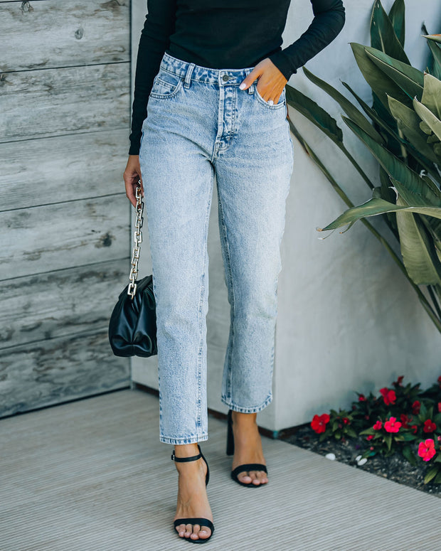 Vintage High Rise Straight Crop Denim view 7
