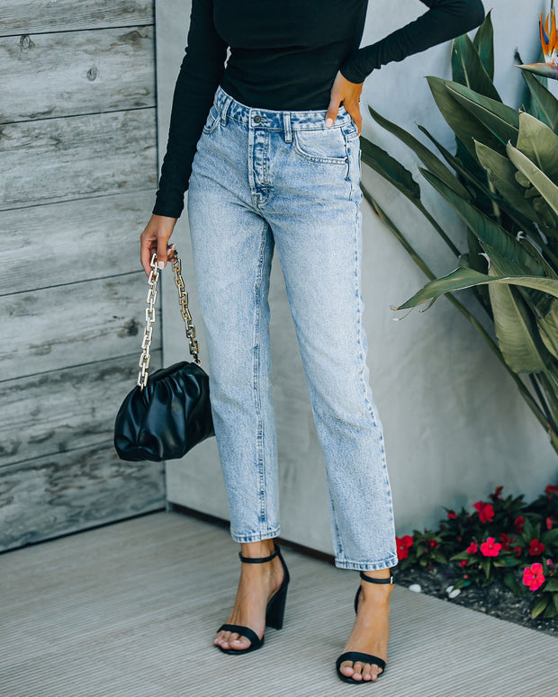 Vintage High Rise Straight Crop Denim view 5
