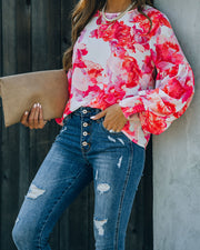 Feel It In The Air Floral Smocked Blouse view 10