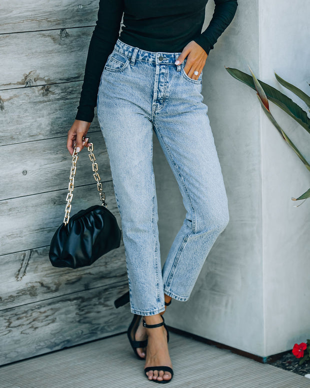 Vintage High Rise Straight Crop Denim view 9