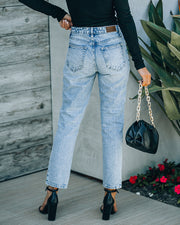 Vintage High Rise Straight Crop Denim view 2