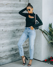 Vintage High Rise Straight Crop Denim view 6