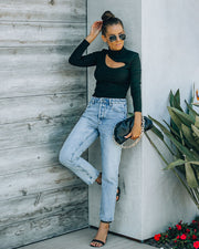 Vintage High Rise Straight Crop Denim view 8