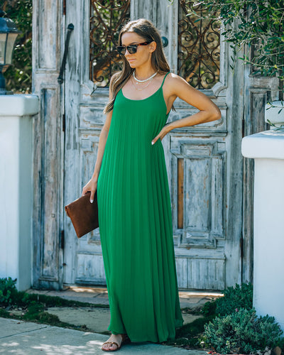 Nearness Of You Pleated Maxi Dress