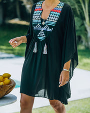 Lorelei Embroidered Kimono Cover-Up Dress view 3