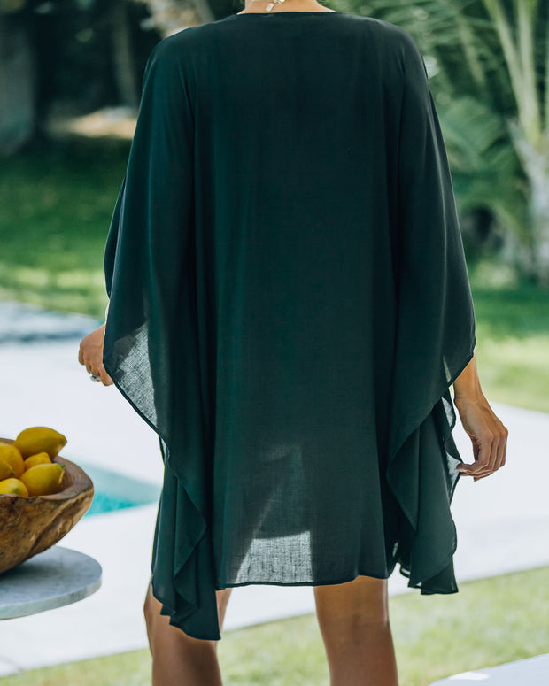 Lorelei Embroidered Kimono Cover-Up Dress view 2