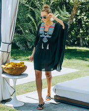Lorelei Embroidered Kimono Cover-Up Dress view 1