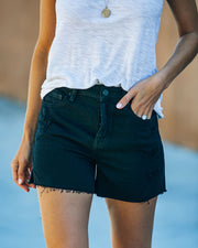 Pixie High Rise Distressed Denim Shorts view 5